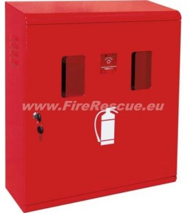 FIRE EXTINGUISHER SMART CABINET FOR TWO 9-12 KG/L WITH KEY